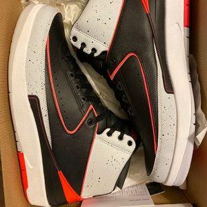 "Retro Jordan 2s ""Infrared Cement"""